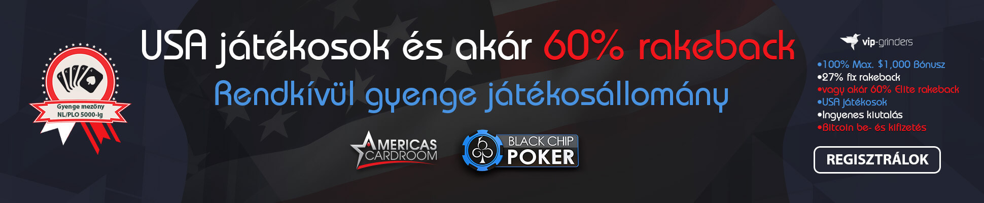 Americas Cardroom Black Chip Poker slider
