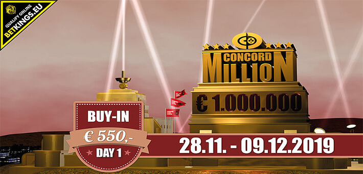 Concord Million szatellit a BetKings termében