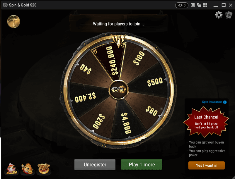 Spin and Gold wheel