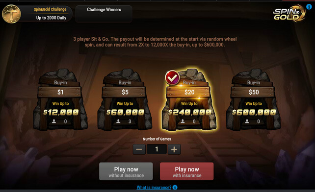 Spin&Gold buy-in - GG Spin